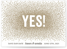 Glittering Yes! Save The Date Cards