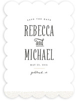 Gold Dotted Save The Date Cards