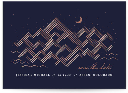 Golden Rockies Save the Date Cards