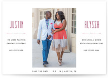 He Likes She Like Save The Date Cards