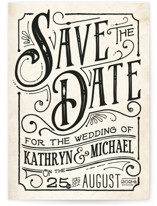 Inked Save The Date Cards