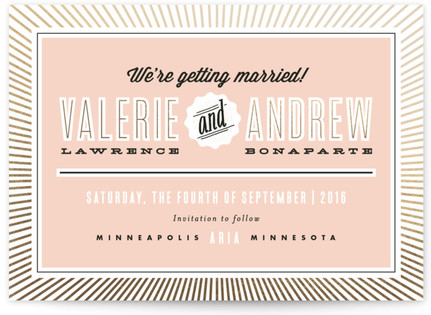 Making Headlines Save the Date Cards