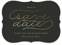 Modern Metal Save The Date Cards