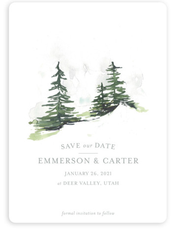 On the Slopes Save The Date Cards