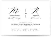 Elegant Monogram Save The Date Cards