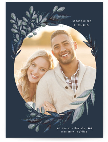Wild Leaf Save The Date Cards