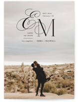Chic Monogram Save The Date Cards