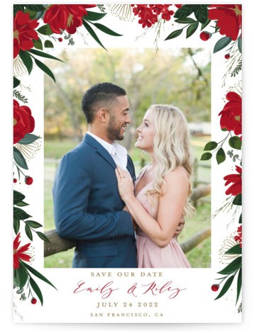 Floral Canopy Save The Date Cards