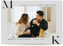 Initial Here Save The Date Cards