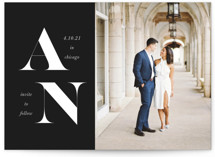 Initially Save The Date Cards