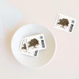 Modern Crest Wedding Stamps