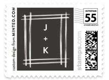 Brushed Wedding Stamps
