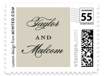 Charming Go Lightly Wedding Stamps