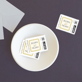 Modern Classic Wedding Stamps