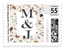 Terrazzo Frame Wedding Stamps
