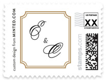 Classy Type Wedding Stamps