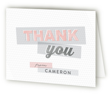 Layered Sweet 16 Sweet Sixteen Party Thank You Cards