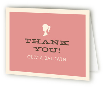 Sweet Sixteen Silhouette Sweet Sixteen Party Thank You Cards