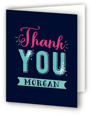 Bold And Sweet Sweet Sixteen Party Thank You Cards
