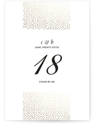 Delicate Dots Foil-pressed Table Numbers