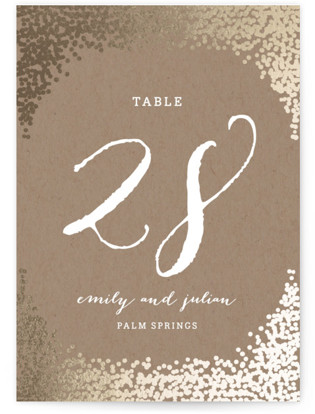 Gold Rush Foil-pressed Table Numbers