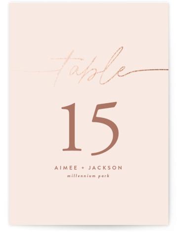 At Last Foil-Pressed Table Numbers