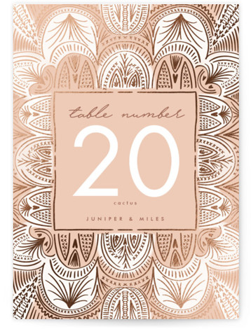 Santa Fe Foil-Pressed Table Numbers