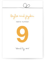 The Happy Couple Wedding Table Numbers