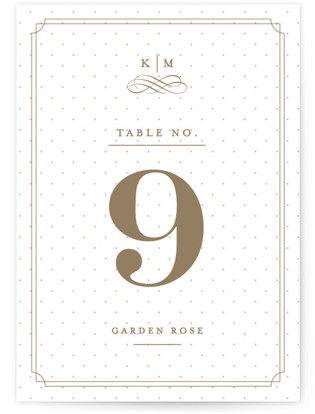 A Glamorous Affair Table Numbers