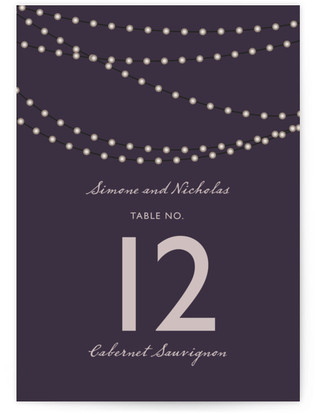 Midnight Vineyard Table Numbers