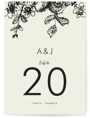 Elegance Illustrated Table Numbers