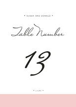 Romantic Frame Table Numbers