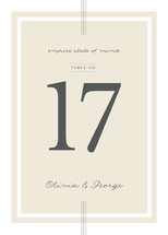 Three Classic Lines Table Numbers