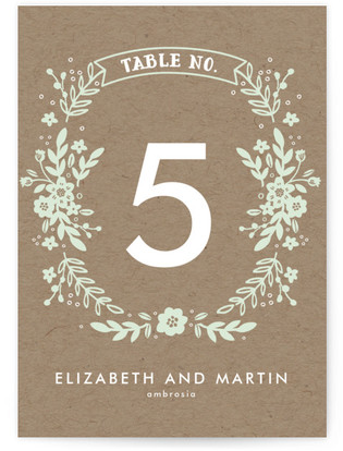 Ampersand Floral Table Numbers