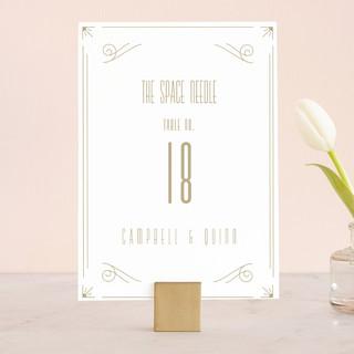 Elegantly Modern Wedding Table Numbers