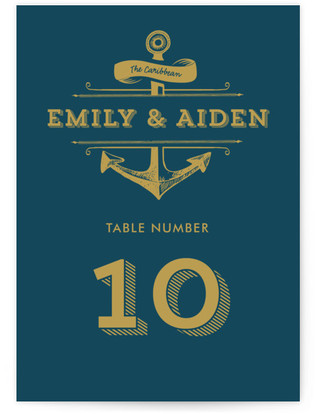 Anchored Table Numbers