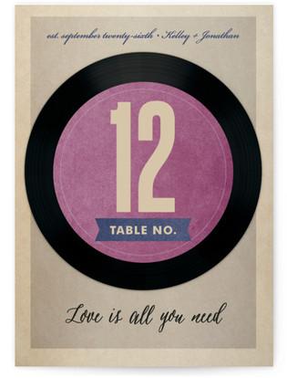 Wedding Vinyl Table Numbers