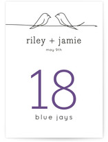 Birds of a Feather Wedding Table Numbers