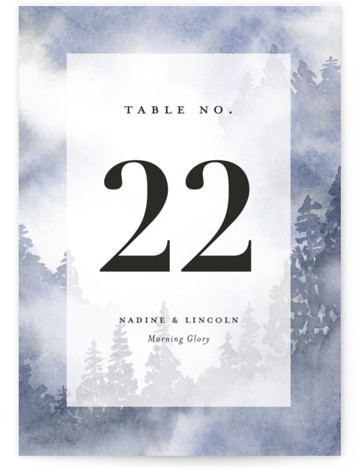 Misty trees Table Numbers