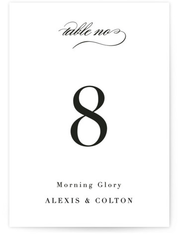 Charming Table Numbers