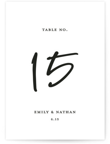 Semi Formal Table Numbers