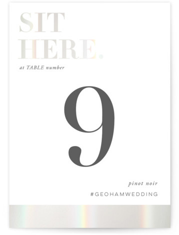 Basically Gloss Press Table Numbers