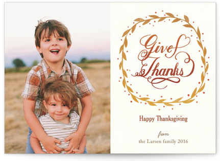 Wreath of Fall Thanksgiving Cards