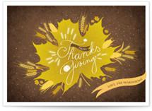 Thanksgiving Leaf by Tereza Šašinková Lukášová