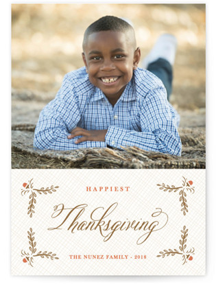 Burlap Label Thanksgiving Cards
