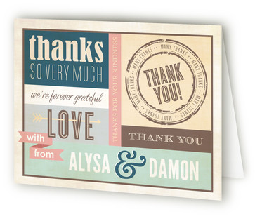 Eclectic Thank You Cards