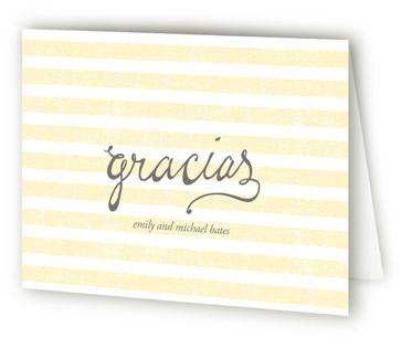 Gracias Stripes Thank You Cards