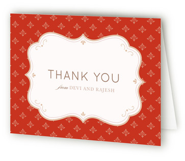 Indian Flair Thank You Cards