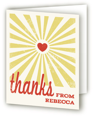 Heart Rays Thank You Cards