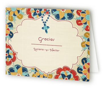 Las Flores Bonitas Thank You Cards